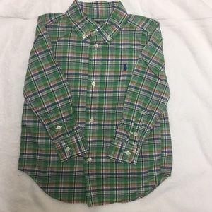 NWOT Green Plaid Ralph Lauren Button Down Shirt